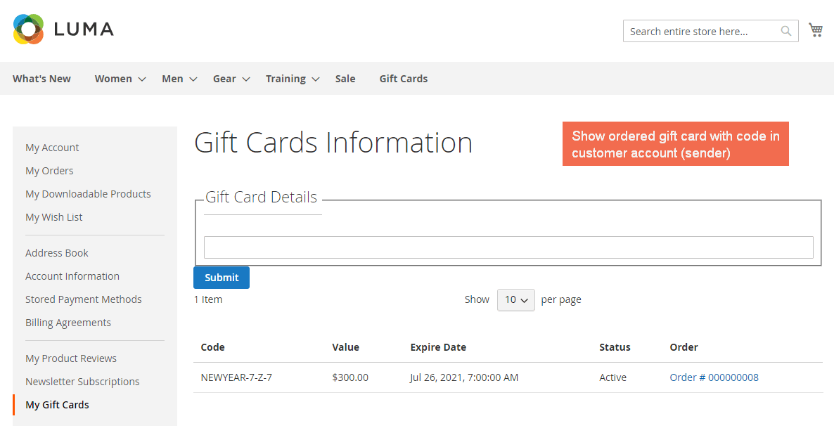 4.magento 2 gift card - my account.png