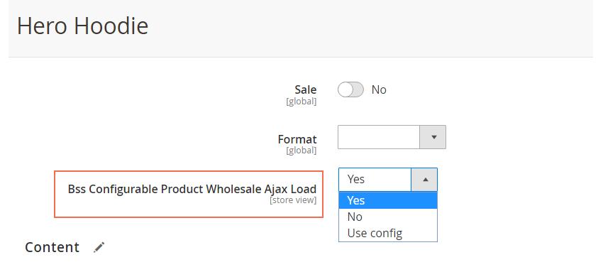 Ajax per product
