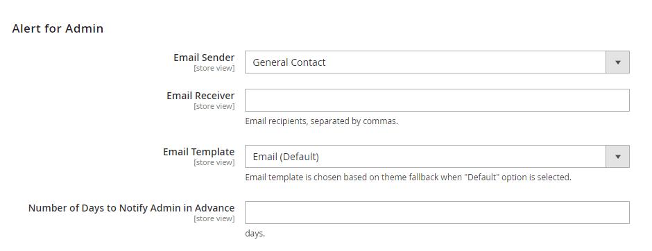 Alert for Admin