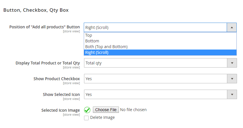 Button, checkbox icon