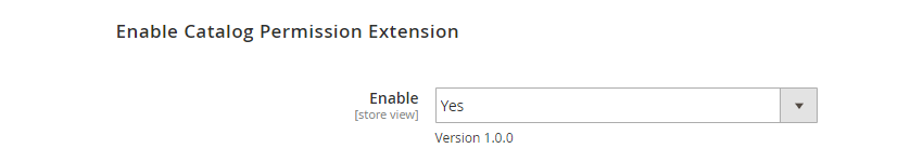 Enable Magento 2 Catalog Permission Extension