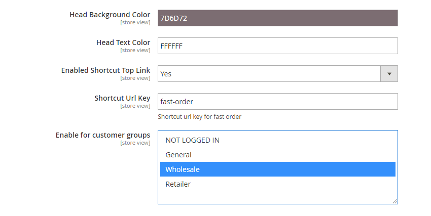 Fast Order Form Settings_2