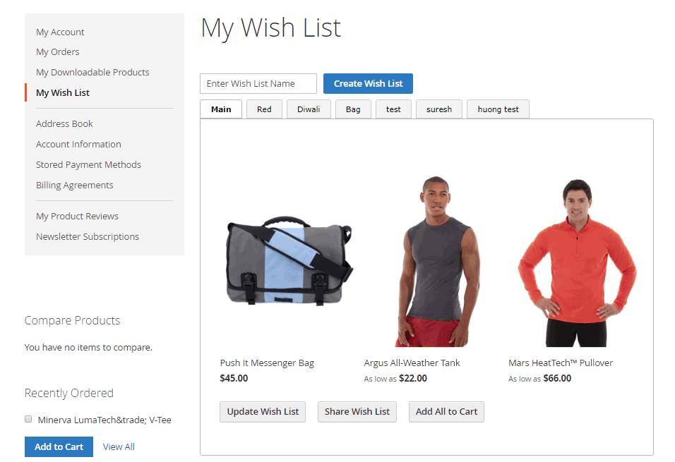 My Wish List Details