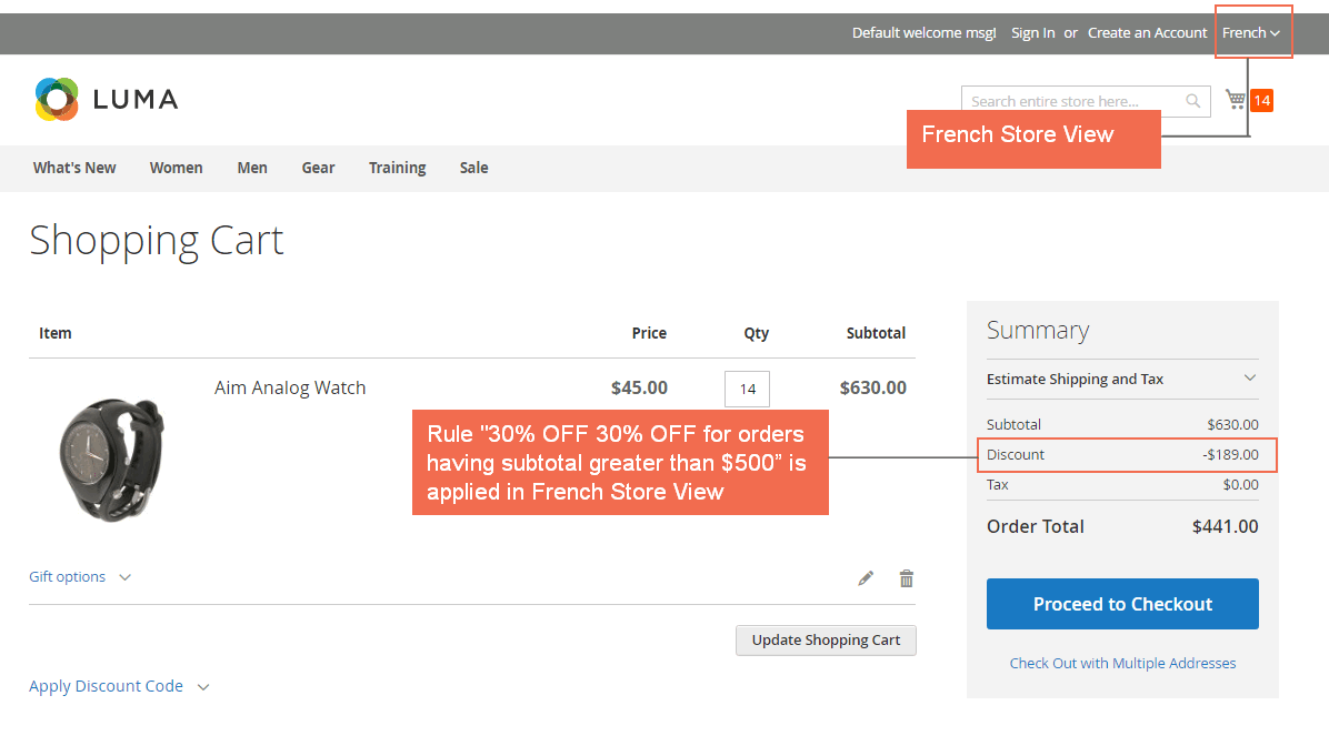 french store view - shopping cart price rule per store view magento 2.png