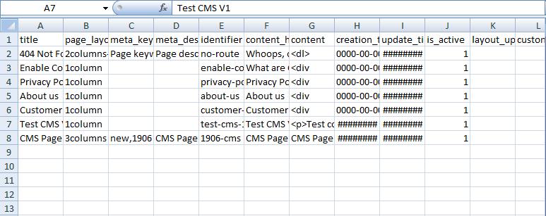 csv file preparation