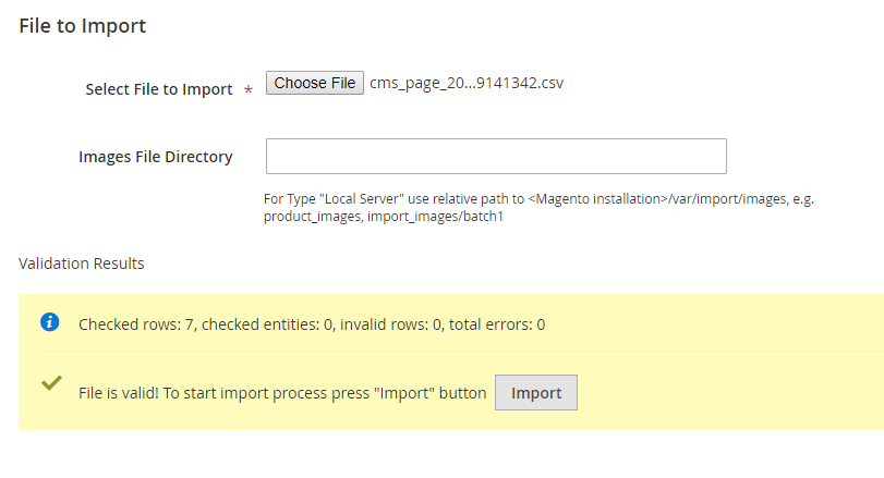 magento-2-import-export-cms-page-extension-validate-results