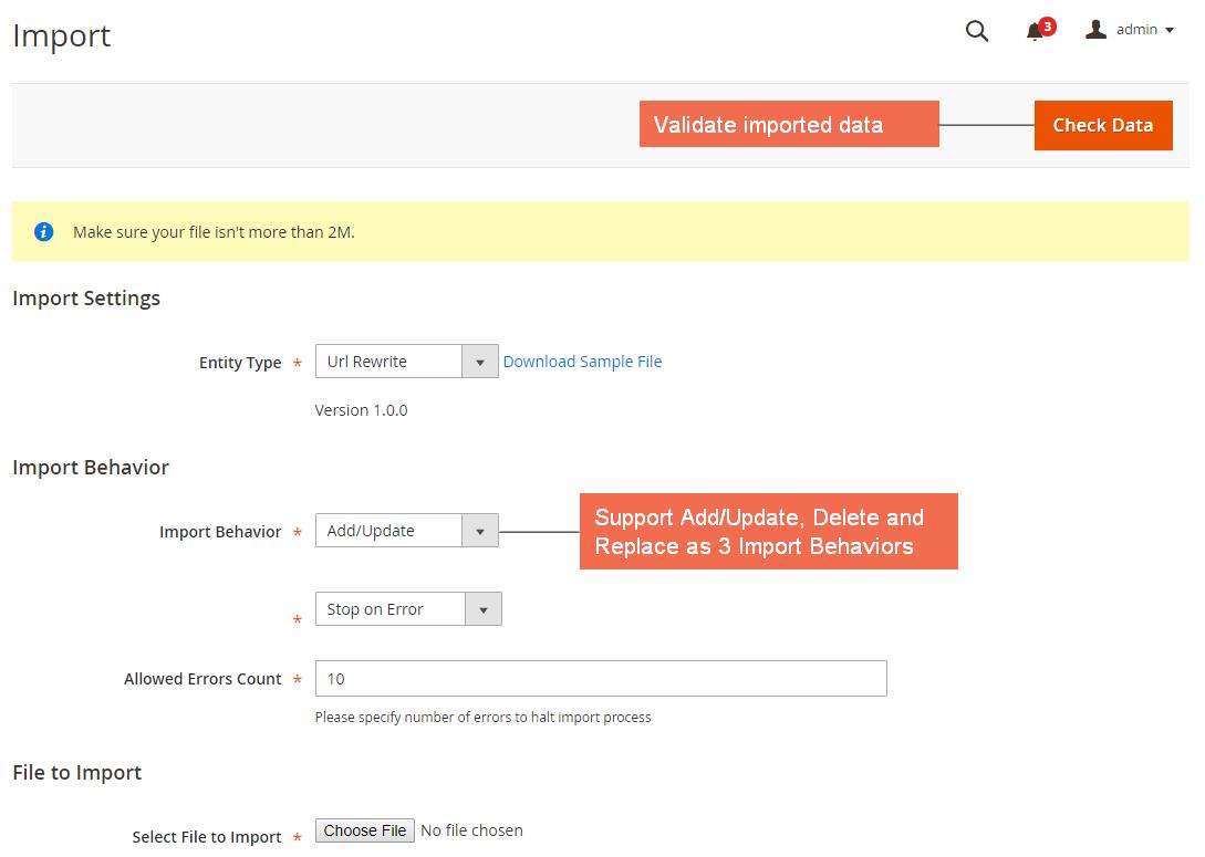 User Guide - Magento 2 Import Export URL Rewrites Extension