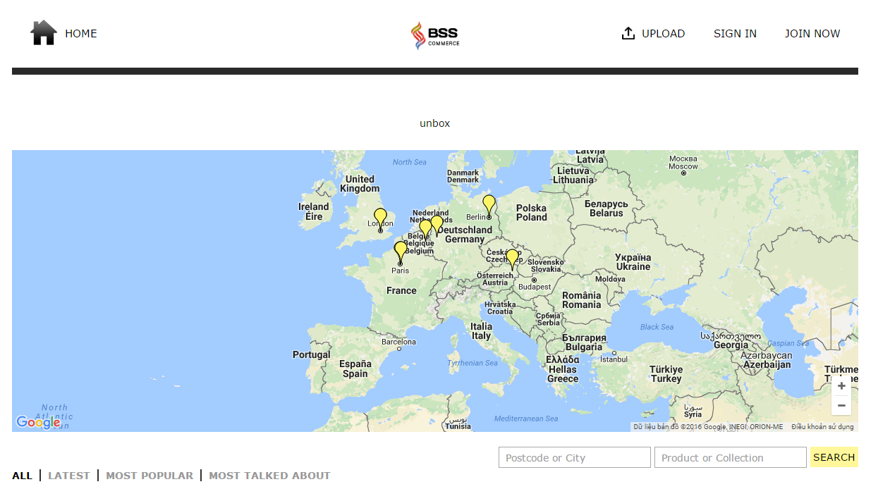 The map supported by Magento Unboxed extension