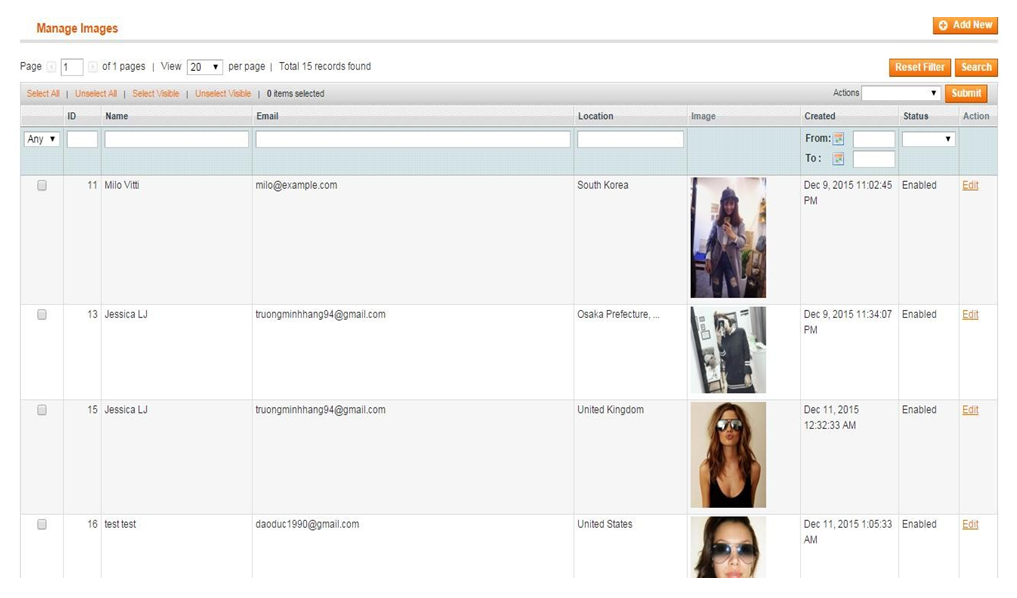 upload pictures by admin using Magento Unboxed extension