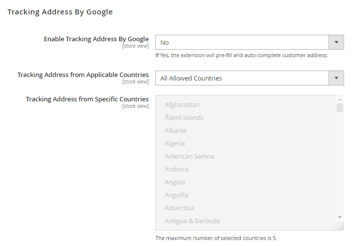 M2 One Step Checkout tracking address by google