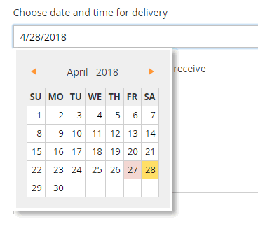 only date is included onto Magento 2 checkout page