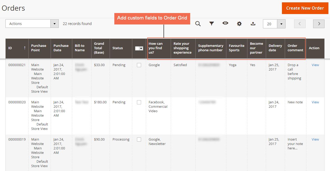 add custom fields to Magento 2 order grid