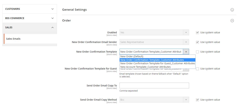 set Magento 2 order sales email