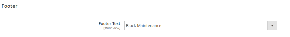 magento 2 maintenance page footer