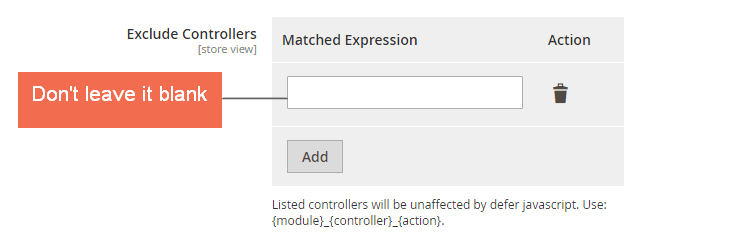 Exclude Controllers