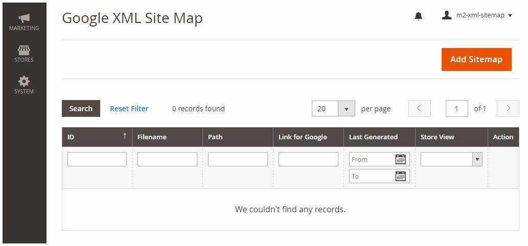 Generate Sitemap
