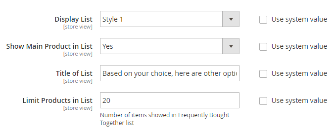 Display List of Magento 2 Frequently Bought Together products