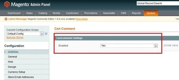 just enable Magento cart comment extension and all will work