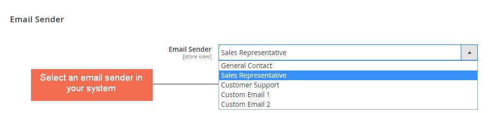 Select Email Sender