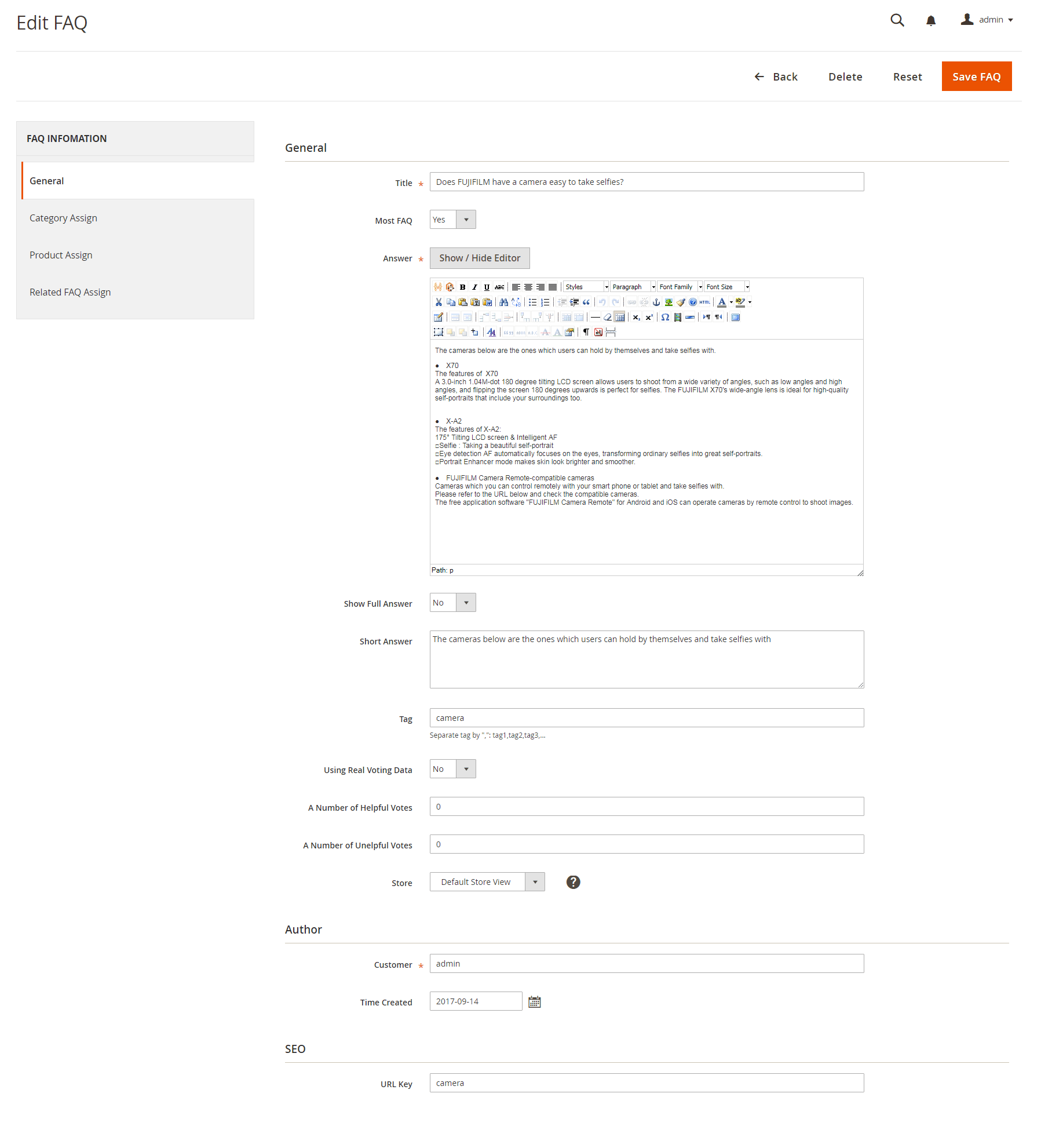 General magento 2 faqs extension