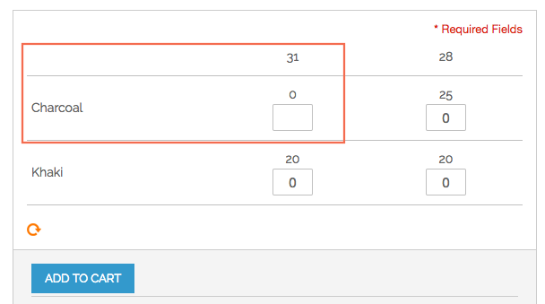 Show the stock number in Magento Configurable Product Matrix View
