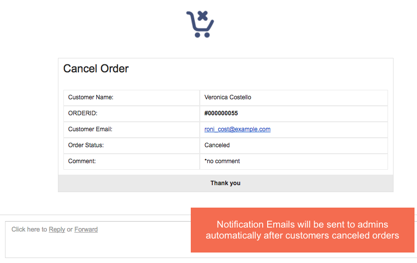 admin notification magento 2 Frontend Cancel Order Extension