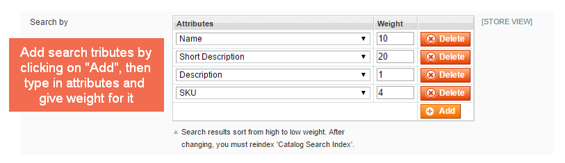 add search attributes in Magento Advanced Search extension