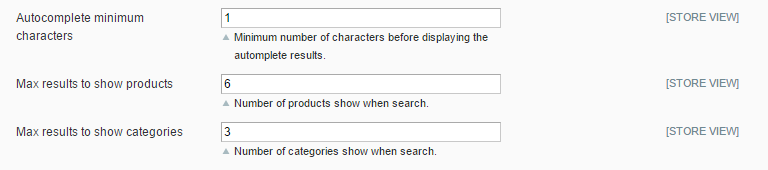 Set up the autocompletion feature in Magento Advanced Search extension