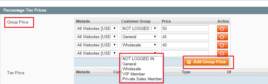 add group price in Magento
