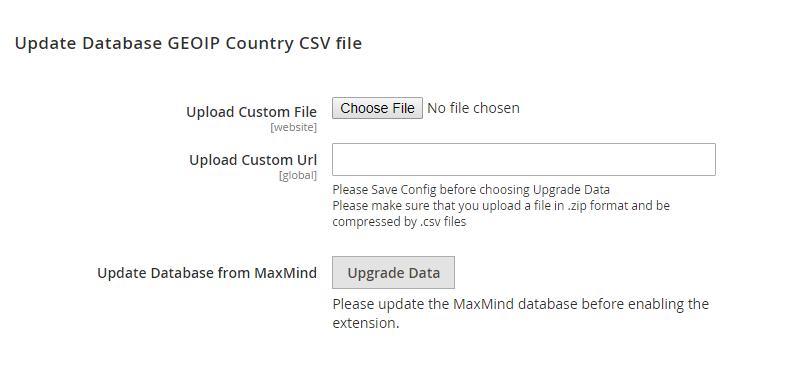 In Update Database GEOIP