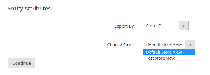 Export by Store ID