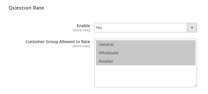 magento 2 product questions question rate