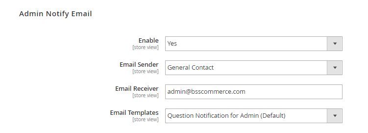 magento 2 product questions admin notify email