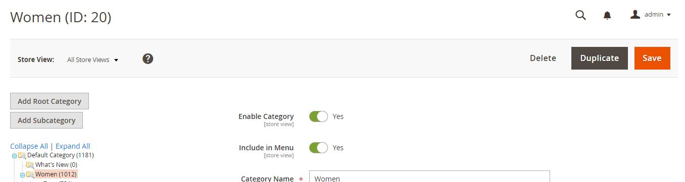 Duplicate category