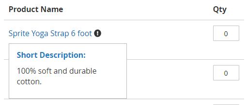 Show Short Description when hover in tooltip