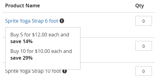 Show Tier Price when hover over tooltip